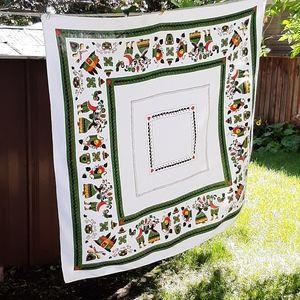 Vintage folk art tablecloth